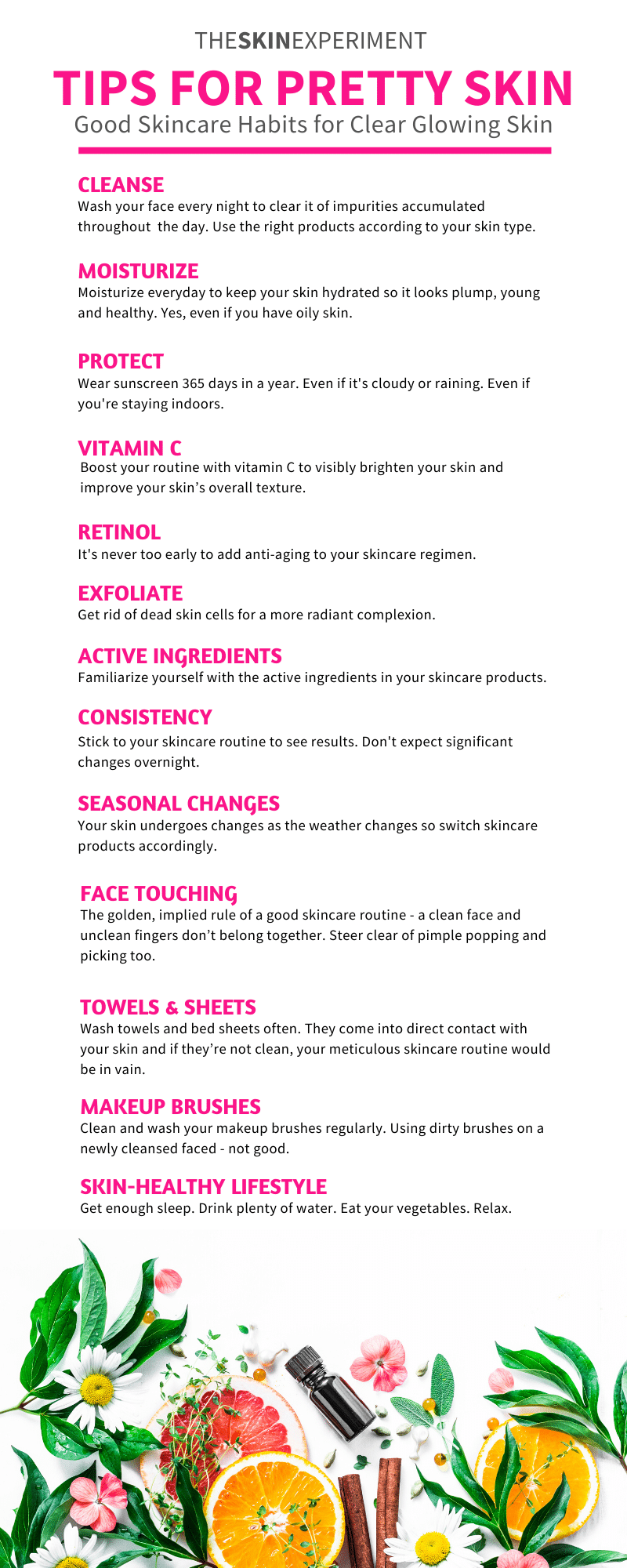Good Skincare Habits Infographic