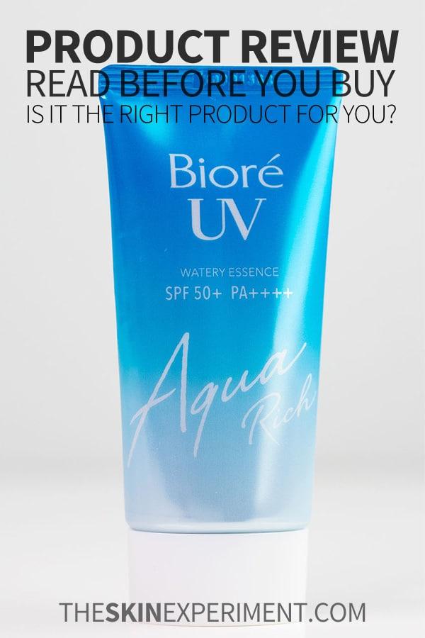 Biore Aqua Rich UV Watery Essence Review
