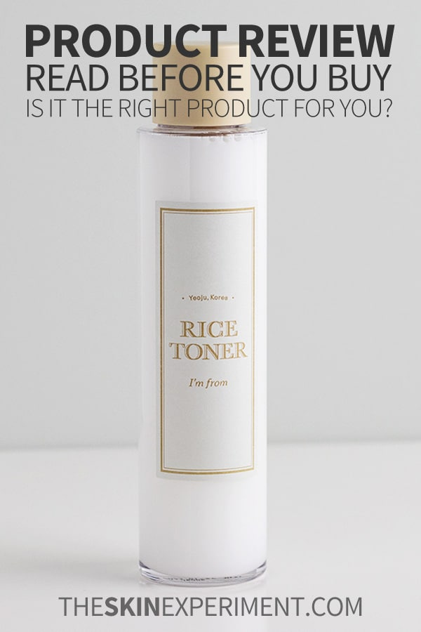 Im From Rice Toner Review