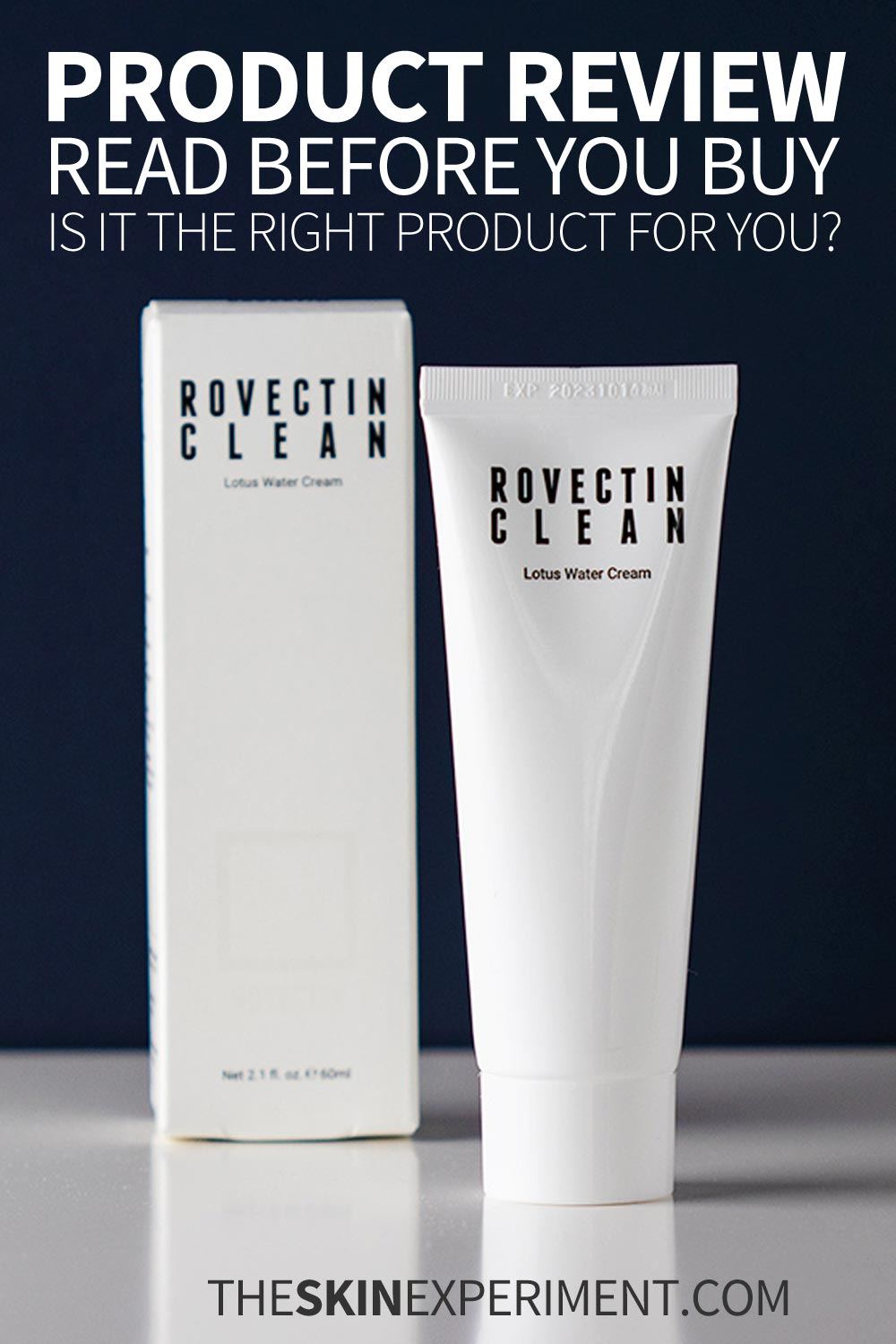 Product Review: Rovectin Clean Lotus Water Cream