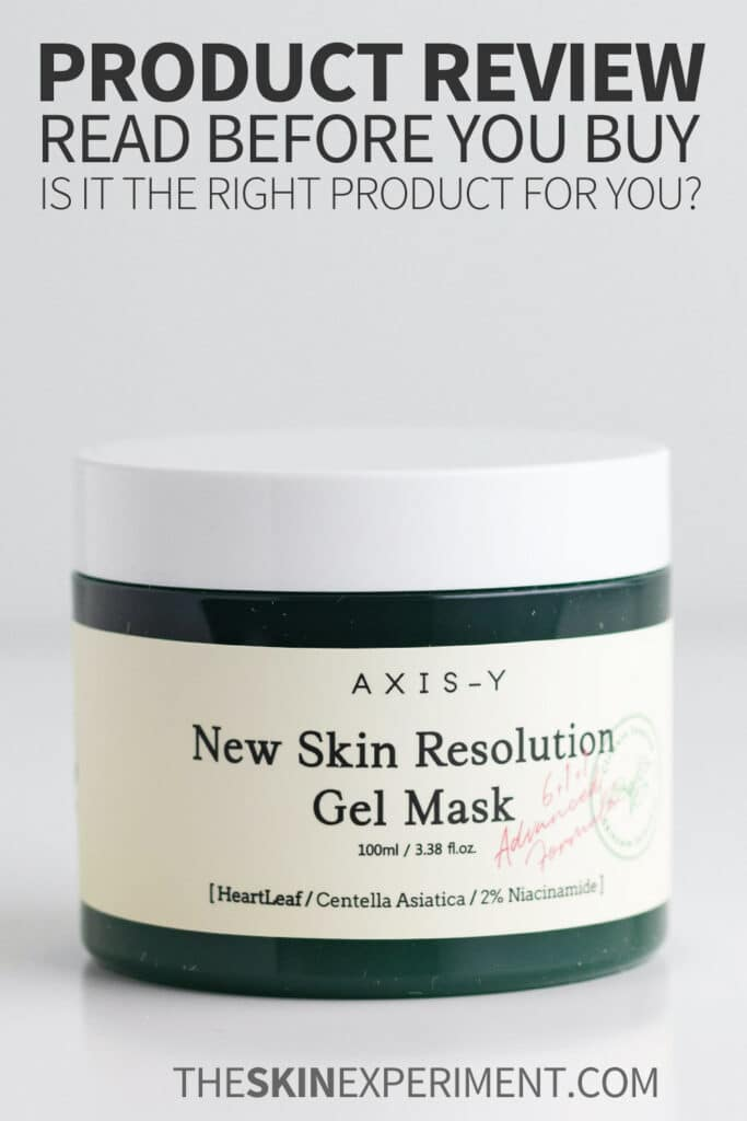 AXIS-Y New Skin Resolution Gel Mask Review