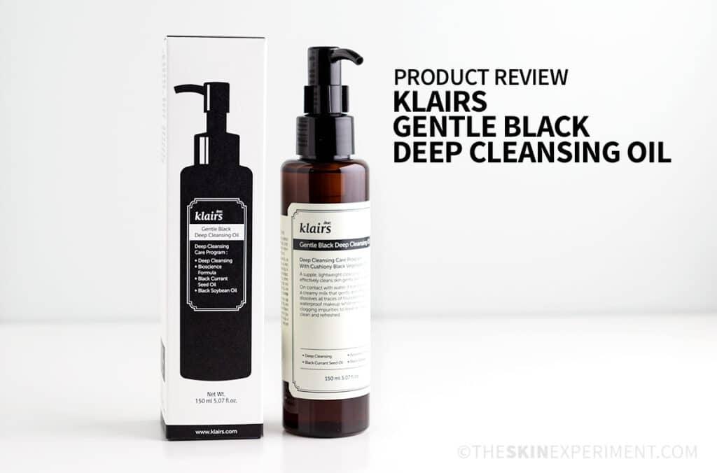 Klairs Gentle Black Deep Cleansing Oil Review